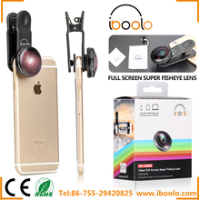 Finely processed 10mm super fisheye lens 210 degree no darkness with universal detachable clip for smartphone