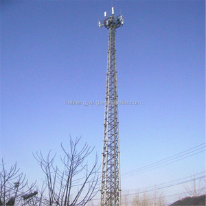 tapered configurations 4 legs angle steel wifi cell 40 meter tower