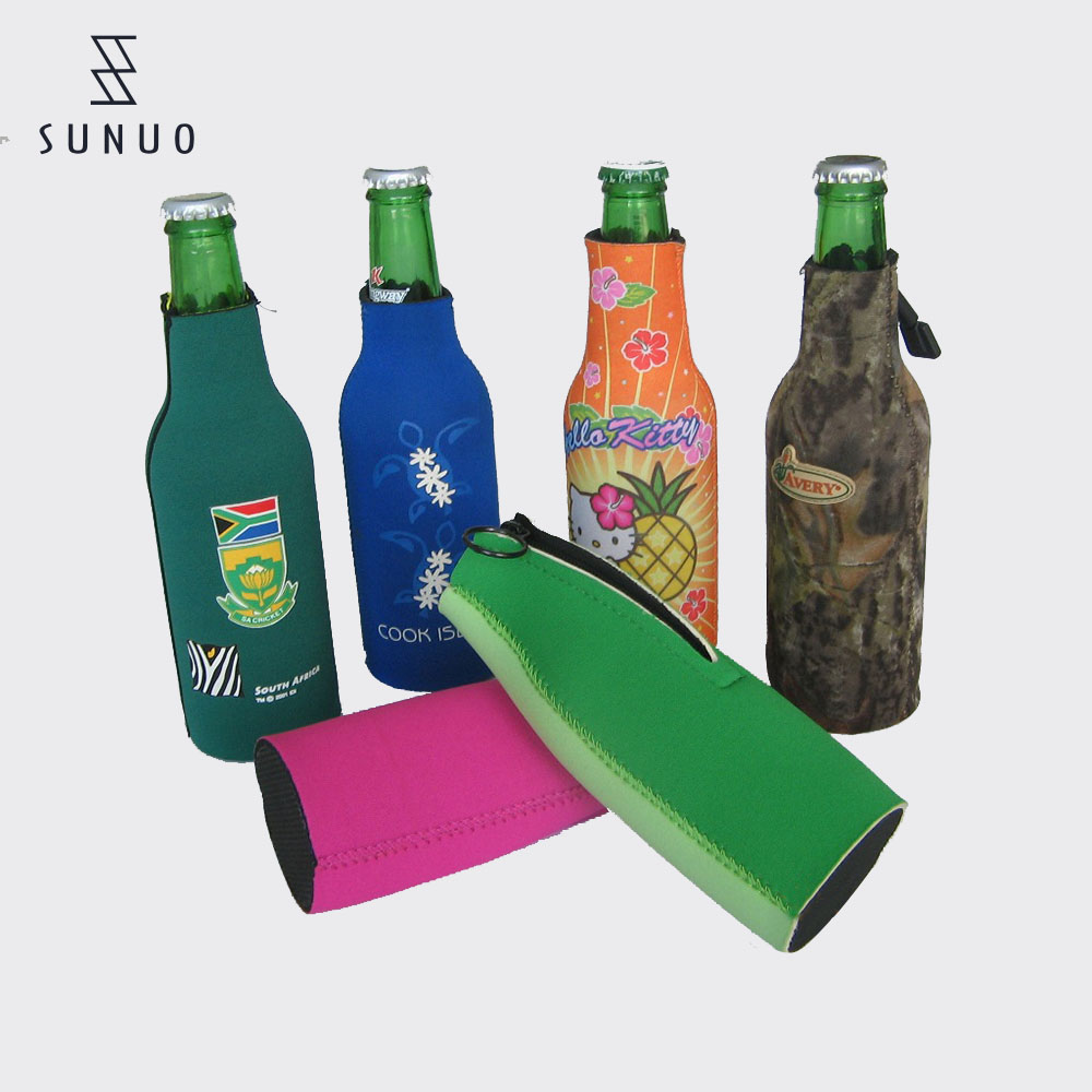 Popular washable neoprene wine beer bottle soda can cooler sleeve