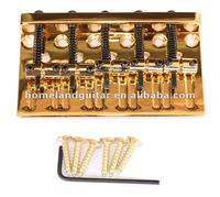Gold 5-String Bass Bridge Extremely Thick and Heavy Top Load Upgrade