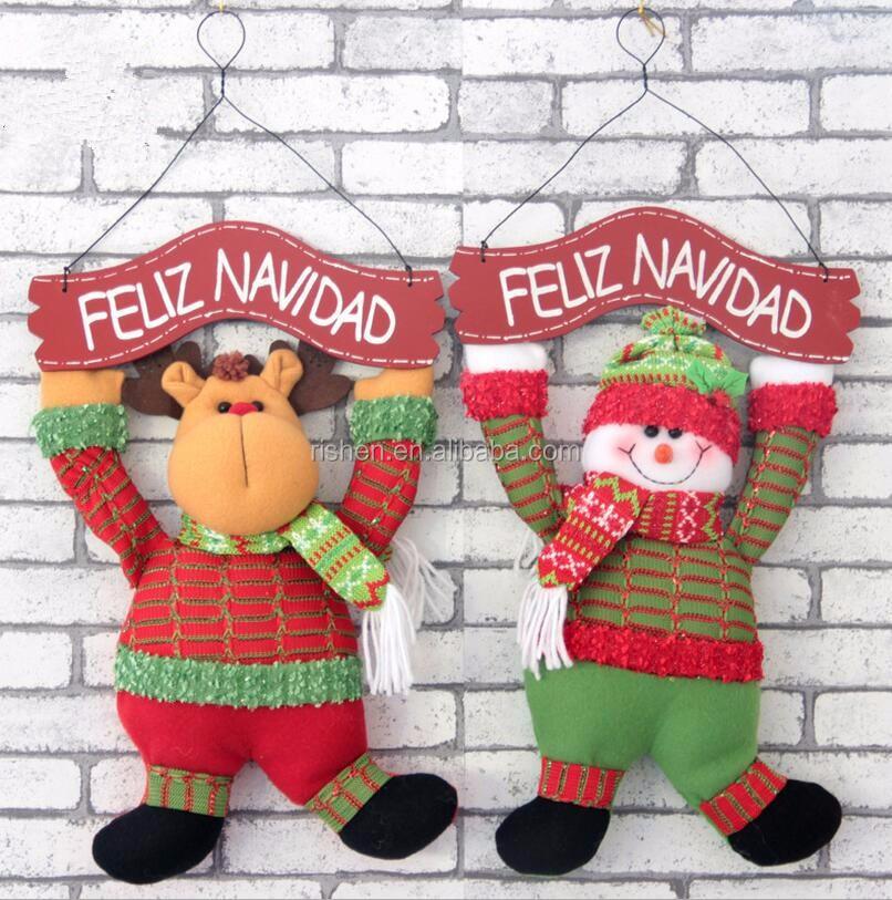 Hängen Santa/schneemann/rentier Weihnachten Singen Puppen ...