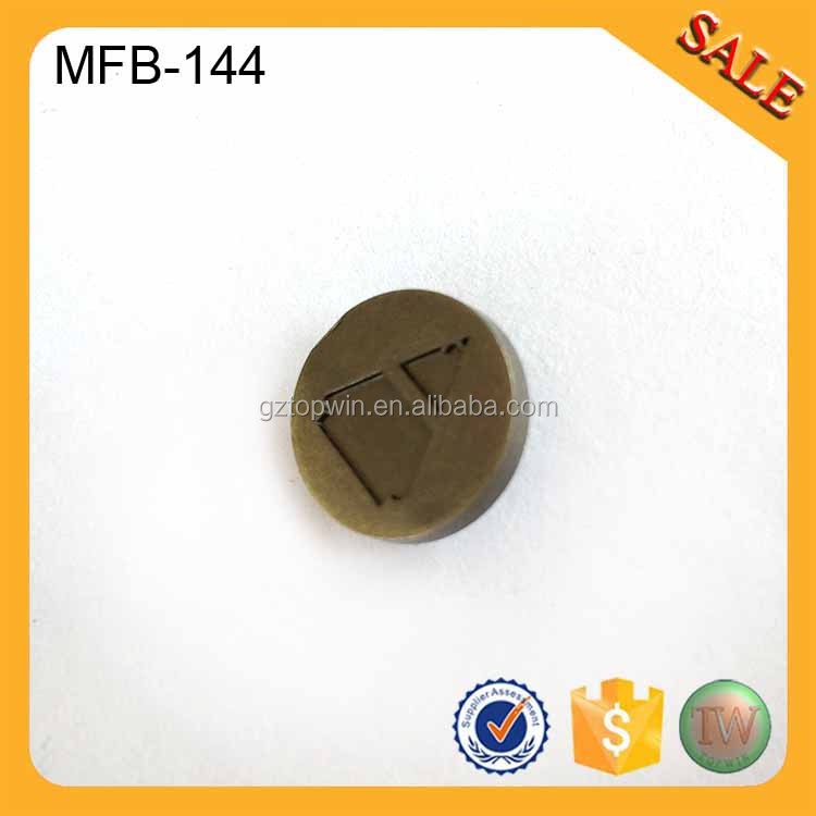 MFB144 2016 Wholesale customized sew on metal trouser buttons