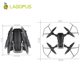 lagopus D8 Camera RC Drone 20 Mins Flight Duration 5MP FPV WIFI 1080P Camera HD Quadcopter Mini Drone Foldable Drone