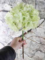 Wholesale Cheap Real touch silk artificial flowers wedding flowers single stem hydrangea