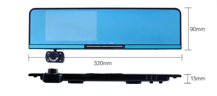 Параллельные линии D11 android-автомобильный зеркало заднего вида вождения рекордер gps-навигации двойной объектив 1080 P даш камеры 5.0 экран камеры