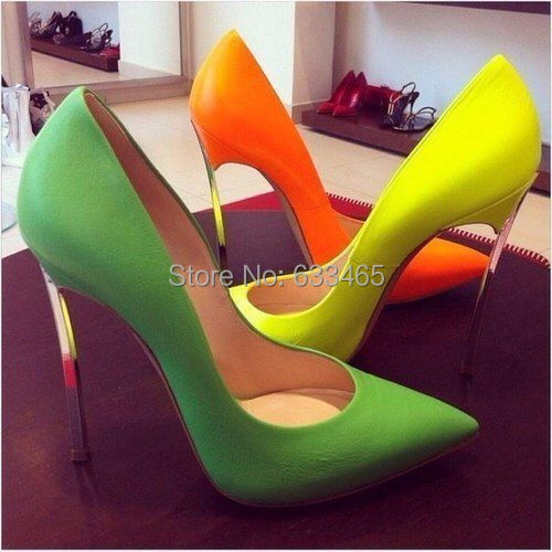 lime green red bottom shoes