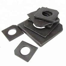 Grade 10.9 Carbon Steel Black Zinc Plated Square Washer