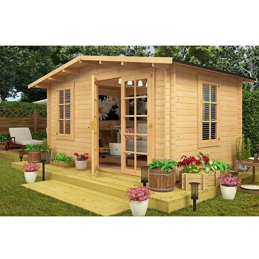 Popular Prefab Wooden Cabin Garden House wood garden shed for Sale