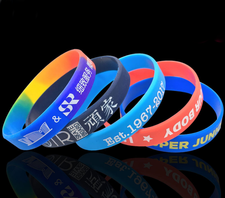 best selling Promotion gifts wrist slap silicone band for kids adult