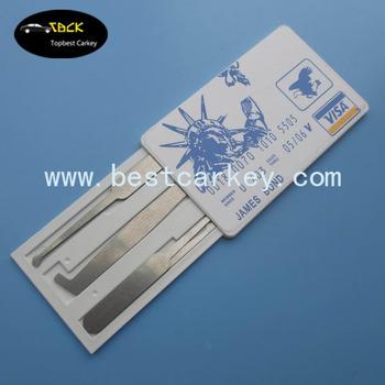 Topbest Visa Key Card Lock Pick Set//james Bond Credit Smart Card Lock Pick  Set - Buy Key Card Lock,Smart Card Lock,Lock Pick Set Product on