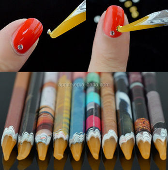 Rhinestone Pick Up Tool Pencil Pick Up Nail Art Rhinestone Pick Up