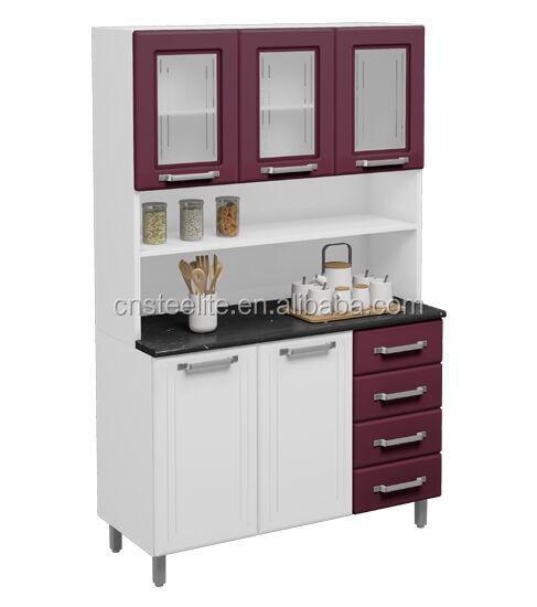 Alto brillo fabrica precio unidad de metal cocina mueble for Cocinas precios fabrica