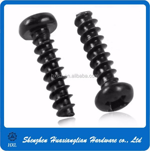 Steel nickle plated and zinc plated m1.6 m2 m2.5 self tapping screw