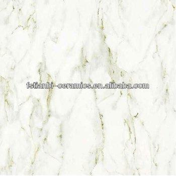White Marble Effect Porcelain Tiles Composite Tile Glazed Polished