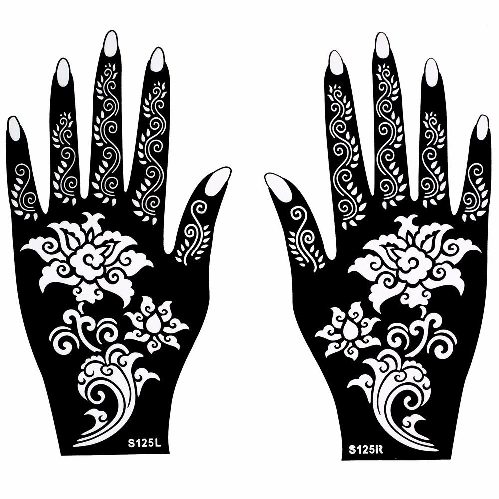Wholesale Hot Henna Tattoo Stencil Beautiful Flower