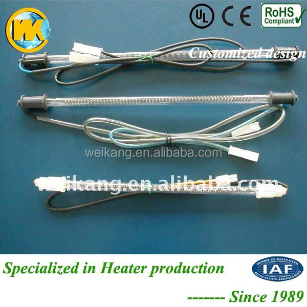 Refrigerator defrost heater Glass Tube Heater