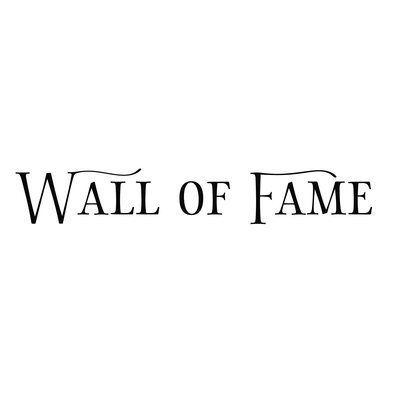 "Wall of Fame Vinyl Wall Decal by Wild Eyes Signs. Sports Room Decal, Vinyl Lettering, Rectangle Border Frame Sign, Wall Sticker, Vinyl Art, Custom Size: 28"" x 180"" Color: Black"
