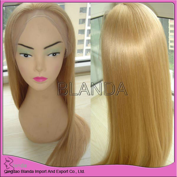 glueless full lace wig,deep wave indian remy virgin human hair full lace wig Two tone color