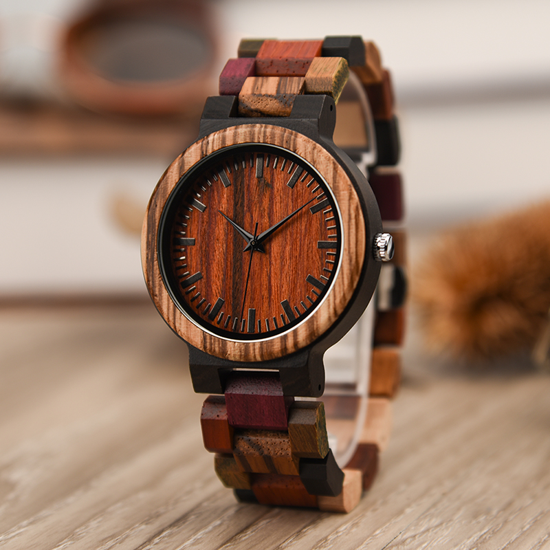 DODO DEER Stylish Wooden watches OEM men women unisex fashion wrist watch with colorful strap china quality clock