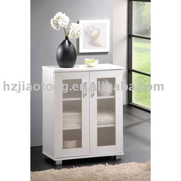 White Bathroom Floor Storage Cabinet white Laminate 2 Doors