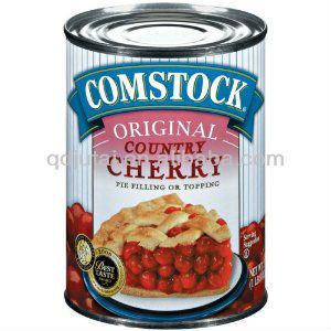 Canned Style organic cherry tinned