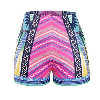 0f0cda2ef8f67 elephant prints women beach shorts tassel wear board shorts plus size beach  wear diving suit swim