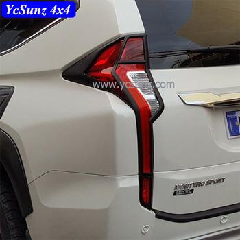 2015 Montero Matte Black Rear Light Cover For Mitsubishi Pajero Sport 2016 Tail  Lights Cover