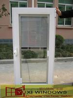Supplier casement window with blinds exterior swinging doors