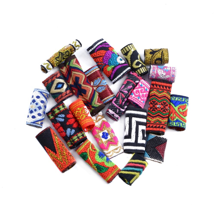 Free Shipping Colorful Fabric Dreadlock Beads Hair Braid Decoration Accessories Hair Clip Hair Pin, Mix color