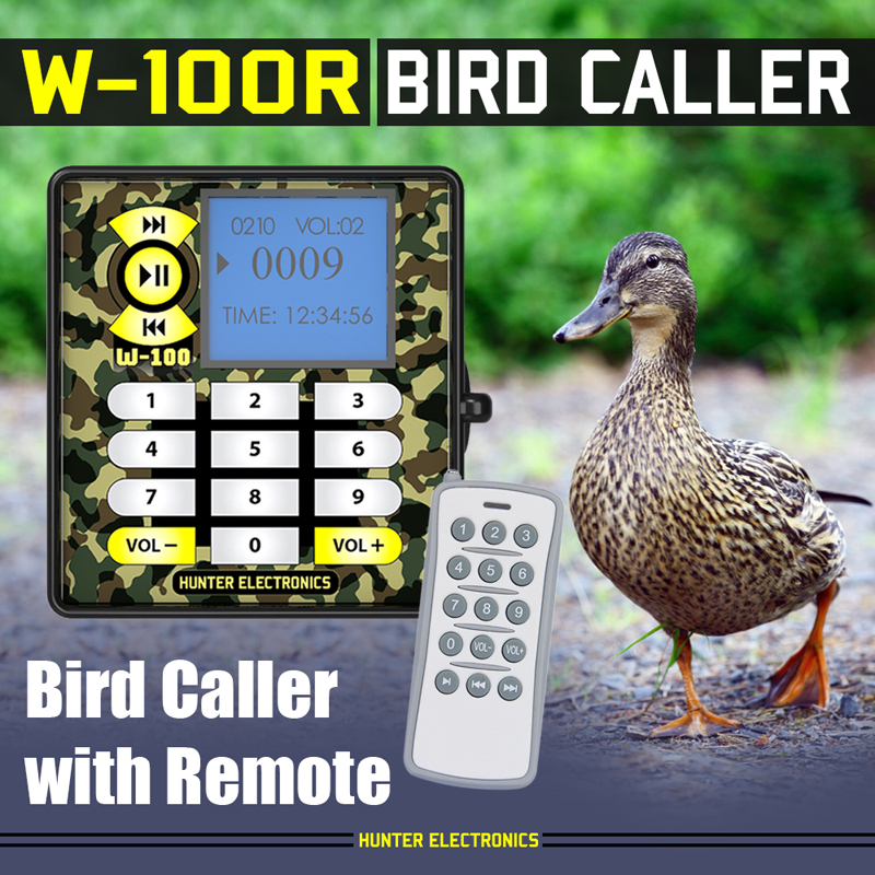 2017 New model MP3 Bird Caller for hunting with Timer and 15key Remote, bird song player фото