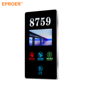 Acrylic Touch Screen Panel Electrical Led Light Door Number Display Plates Signs For Hotel Room