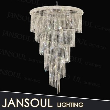 Long spiral chandelier crystal chandelier staircase hanging pendant long spiral chandelier crystal chandelier staircase hanging pendant light chrome chandeliers for home staircase hallways decor aloadofball Image collections