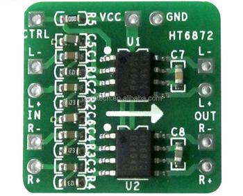 Supply Differential Power Amplifier Board 2x3w Input 3 6 ~ 6 5v Digital  Class D Audio Power Amplifier Module Ht6872 - Buy Ht6872 Differential Power