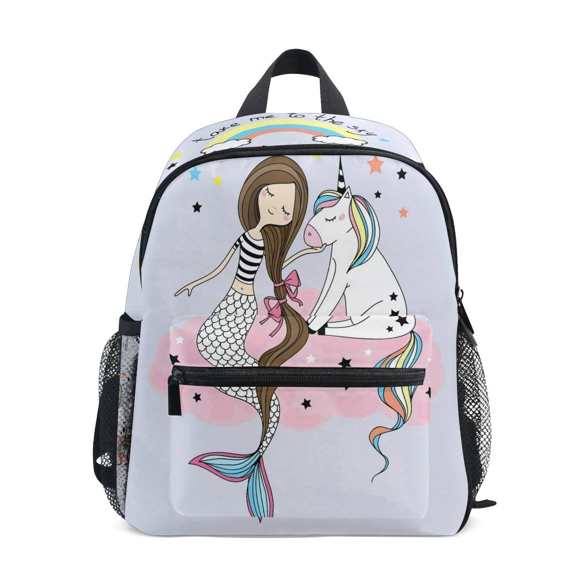 9a9ead5a0752 Get Quotations · ZZKKO Mermaid Girl Unicorn Kids Backpack School Book Bag  for Toddler ...