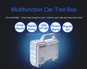 2017 New arrival Excellent Quality Powerbank Car Jump Starter Tools Box + Powerful SOS LED Light