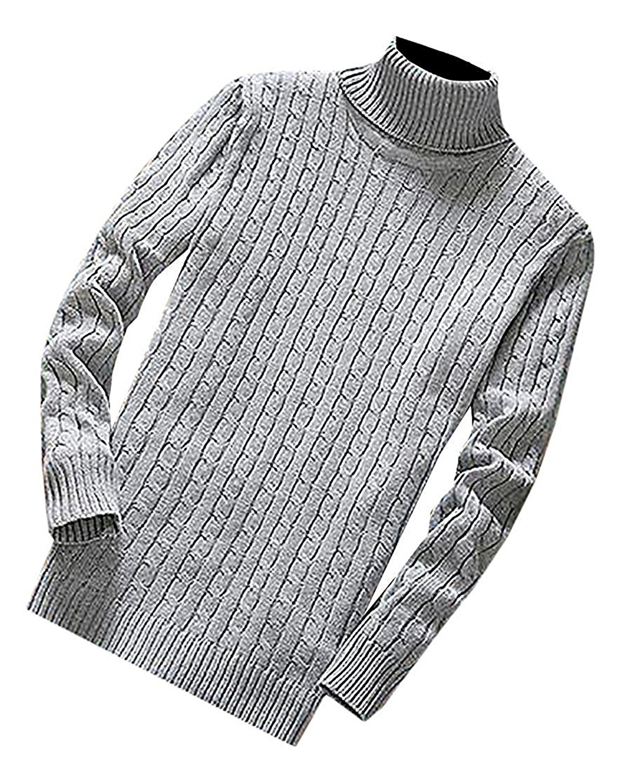 62c7cf8547d Get Quotations · B dressy Fashion Mens Knit Slim Fit Turtleneck Soft Warm Pullovers  Sweaters