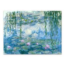 Картина на холсте Monet Водяные лилии Современное украшение цветок впечатление художественные плакаты принты Candock настенные картинки для гос...(Китай)