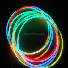 Neon Glow Stick Necklace 5x280mm Decoration for Christmas Glow Necklace Party