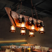 Loft light Creative wooden lighting lamp Retro unique boat shape vintage pendant light
