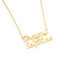 Manufacture Custom Personalised Gold Name Necklace With 2 Names
