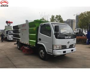 Dongfeng 1.5 cube water tank and 4 cube waste tank vacuum road sweeper truck hot selling