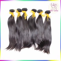 Brazilian Virgin Natural Silky Straight Hair Weaving Human Unprocessed Bundles 10A Grade Fast Shipping