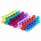 Push Pin Plastic Magnets, 60 Pack Assorted Color Strong Magnetic Push Pins, Perfect Magnets for Map and Calend