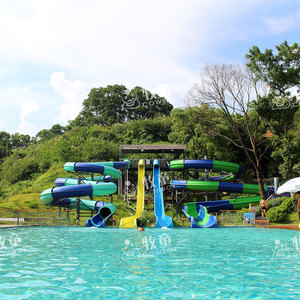 Smooth fiberglass skin raft spiral water slide used swimming pool slide for sale