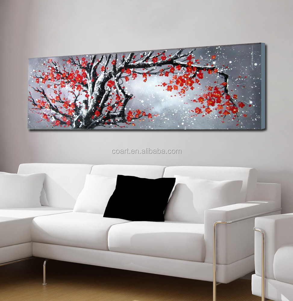 wall art flower oil paintings for home decor