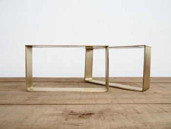 Tischplatte Aus Hochwertigem Messing Mit Flachem Stahlblech Aus
