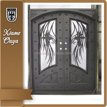 Wrought Iron Interior Security Door Design Glass Door Iron Door For House