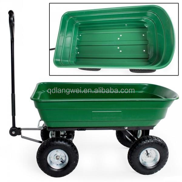 Hand pull kids wagons with durable poly tray