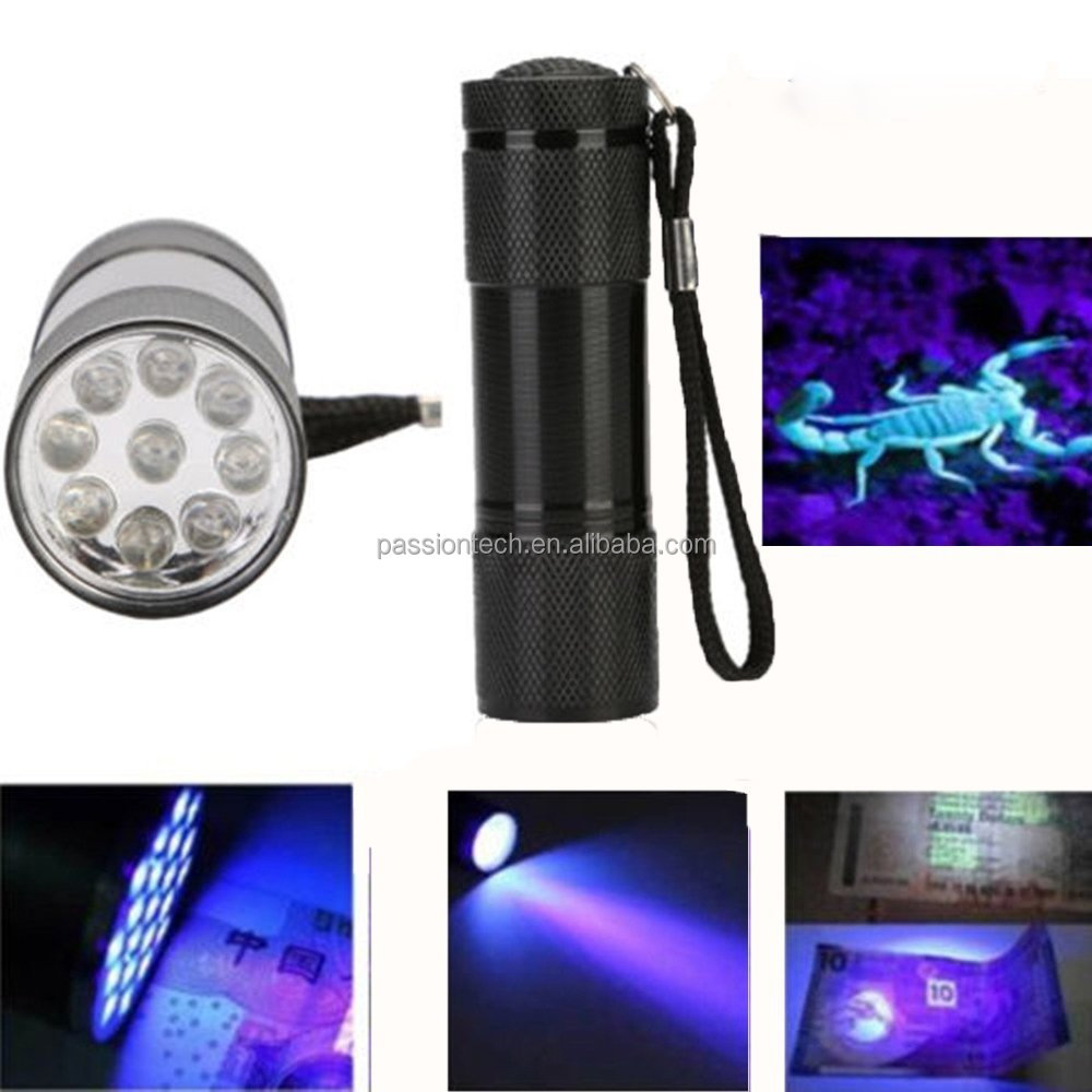 Black Light UV Flashlight for Detecting Human Fluids Bed Scorpions