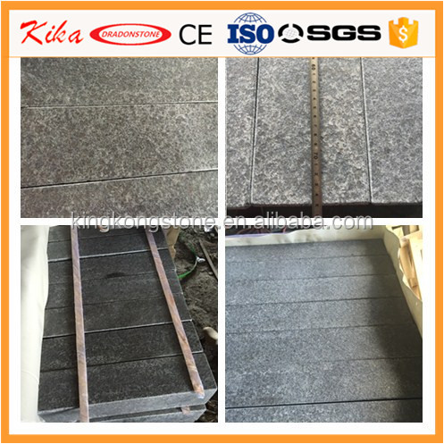 Factory supply Chinese grey granite G684 flamed kerbstone